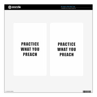 Practice What You Preach Skin For Kindle Fire