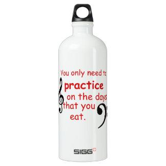 Practice When You Eat Coffee mug Aluminum Water Bottle