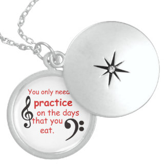 Practice When You Eat Jewelry Necklace
