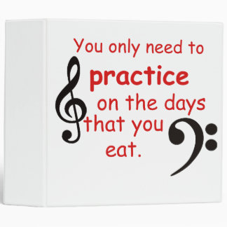 Practice When You Eat Notebook Binder Gift