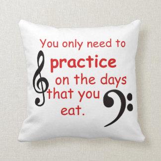 Practice When You Eat through pillow Gift