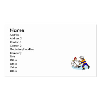 Practice with snowman goalie business card template