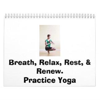 Practice Yoga Wall Calendar