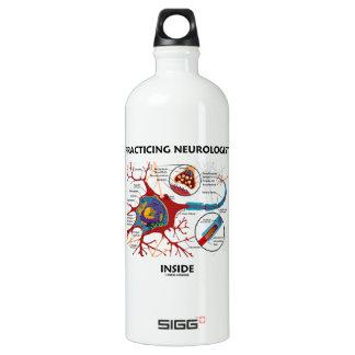Practicing Neurologist Inside (Neuron Synapse) Aluminum Water Bottle