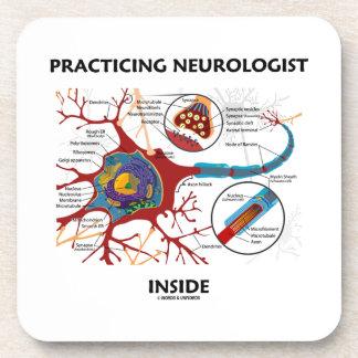 Practicing Neurologist Inside (Neuron Synapse) Coaster