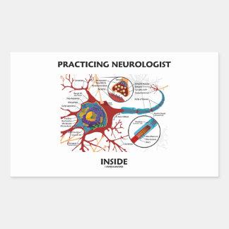 Practicing Neurologist Inside (Neuron Synapse) Rectangular Sticker