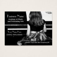 Practicing The Piano In Pretty Dress Business Card at Zazzle