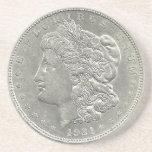 Práctico de costa 1921 del dólar de plata de Morga Posavasos Diseño