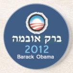 Práctico de costa 2012 del hebreo de Obama Posavasos Para Bebidas