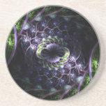 Práctico de costa 2 de la célula del fractal posavasos personalizados