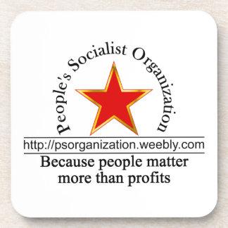 Práctico de costa 2 del logotipo del URL de PSO Posavasos