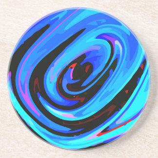 "Práctico de costa abstracto de ""azul"" sensación de posavaso para bebida"
