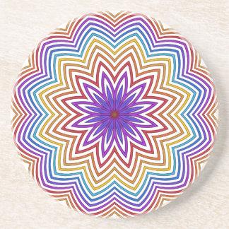 Práctico de costa abstracto de la flor de la posavasos personalizados