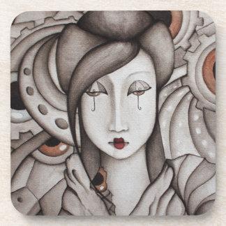 Práctico de costa abstracto del geisha posavasos de bebidas