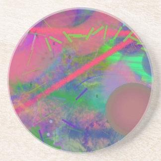 Práctico de costa abstracto en colores pastel de l posavasos manualidades