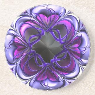 Práctico de costa abstracto púrpura y rosado posavasos personalizados