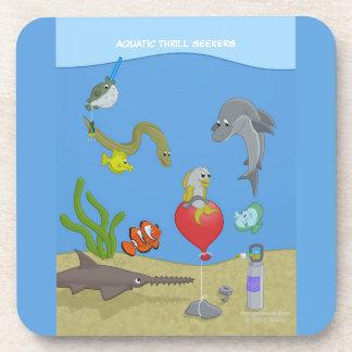 Práctico de costa acuático de los buscadores de la posavasos de bebida