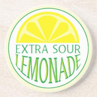 Práctico de costa amargo adicional de la limonada posavasos manualidades