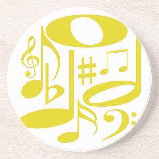Práctico de costa amarillo musical posavasos personalizados