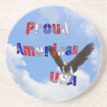Práctico de costa americano orgulloso de Eagle cal Posavasos Diseño