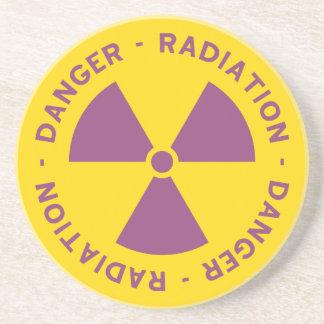 Práctico de costa amonestador de la radiación posavasos diseño