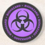 Práctico de costa amonestador del Biohazard púrpur