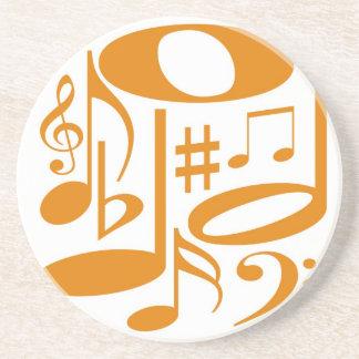 Práctico de costa anaranjado musical posavasos de arenisca
