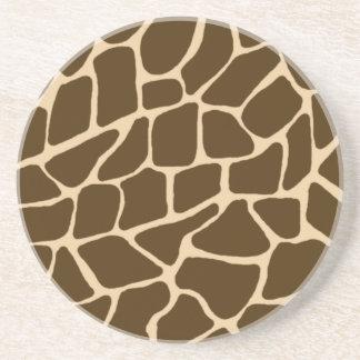 Práctico de costa animal único de la piedra arenis posavasos de arenisca