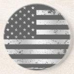 Práctico de costa apenado de la bandera americana  posavaso para bebida