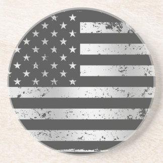 Práctico de costa apenado de la bandera americana posavasos diseño