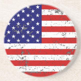 Práctico de costa apenado de la bandera americana posavasos manualidades