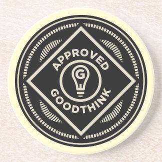 Práctico de costa aprobado de Goodthink Posavasos Personalizados