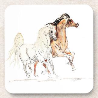 Práctico de costa árabe del corcho del caballo posavasos de bebida