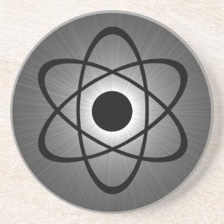 Práctico de costa atómico Nerdy, gris Posavasos Diseño