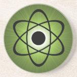 Práctico de costa atómico Nerdy, verde Posavaso Para Bebida
