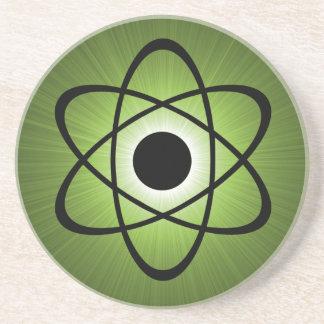 Práctico de costa atómico Nerdy, verde Posavasos Cerveza