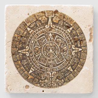 Práctico de costa azteca de la piedra del posavasos de piedra
