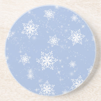 Práctico de costa azul de los copos de nieve posavasos manualidades