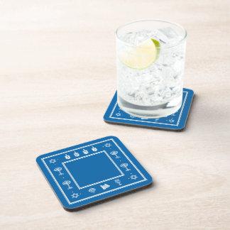 Práctico de costa azul del corcho del adorno de Já Posavasos De Bebidas
