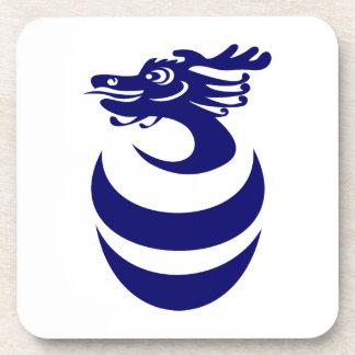Práctico de costa azul del corcho del dragón posavaso