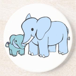 Práctico de costa azul del elefante posavaso para bebida