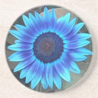 Práctico de costa azul del girasol posavasos diseño