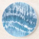 Práctico de costa azul del teñido anudado posavasos diseño