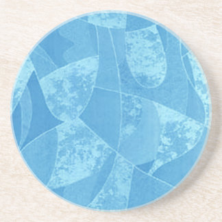 Práctico de costa azul del vidrio de la mancha posavasos diseño