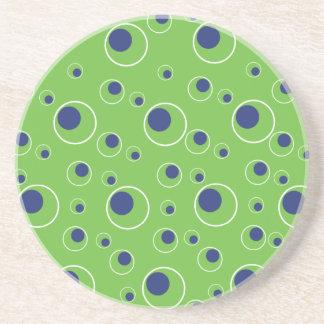 Práctico de costa azulverde del modelo de puntos d posavasos personalizados