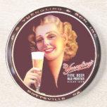 """Práctico de costa bandeja de la cerveza"""" de señora posavasos diseño"""