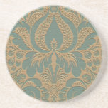 Práctico de costa beige del damasco del trullo posavasos diseño