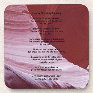 Práctico de costa, bendición del boda de Apache, b Posavasos