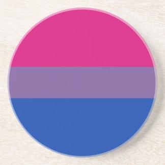 Práctico de costa bisexual de la bandera del orgul posavaso para bebida