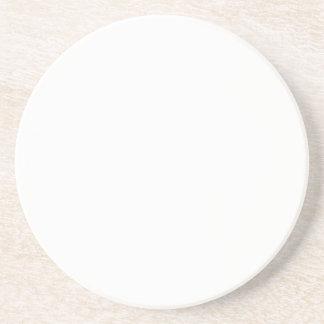 Práctico de costa blanco de la piedra arenisca de  posavasos para bebidas